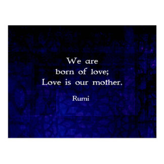 Rumi Inspirational Love Quote About Feelings Postcard