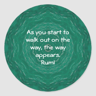 Rumi Inspirational Quotation Saying about Faith Classic Round Sticker