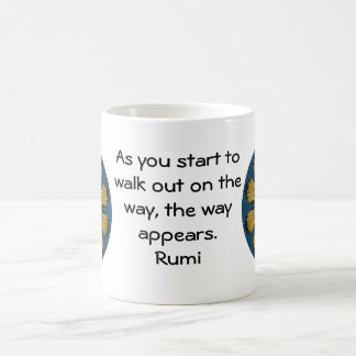 Rumi Inspirational Quotation Saying about Faith Coffee Mug