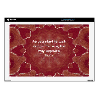"""Rumi Inspirational Quotation Saying about Faith Decals For 17"""" Laptops"""