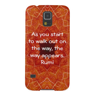 Rumi Inspirational Quotation Saying about Faith Galaxy S5 Cover