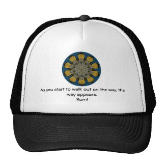 Rumi Inspirational Quotation Saying about Faith Trucker Hats