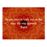 Rumi Inspirational Quotation Saying about Faith Postcards