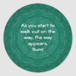 Rumi Inspirational Quotation Saying about Faith Stickers