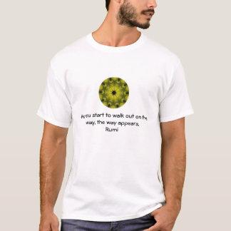 Rumi Inspirational Quotation Saying about Faith T-Shirt