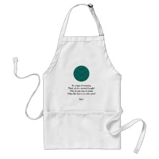 Rumi Inspirational quote With Tribal Design Adult Apron