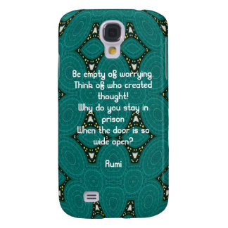 Rumi Inspirational quote With Tribal Design Galaxy S4 Cases
