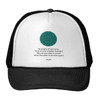 Rumi Inspirational quote With Tribal Design Trucker Hats