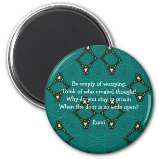 Rumi Inspirational quote With Tribal Design Magnet
