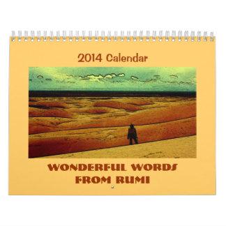 Rumi inspirational quotes calendar