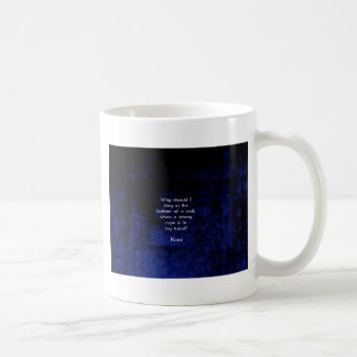 Rumi Inspirational Taking Action Quote Coffee Mug