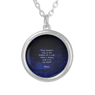 Rumi Inspirational Taking Action Quote Round Pendant Necklace