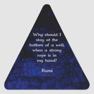 Rumi Inspirational Taking Action Quote Triangle Sticker