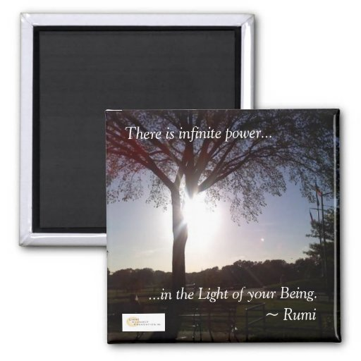 "Rumi ""Light of Your Being"" Magnet"