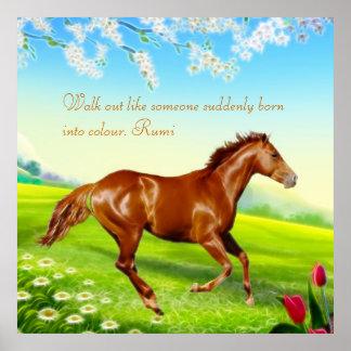 Rumi llevado en color póster
