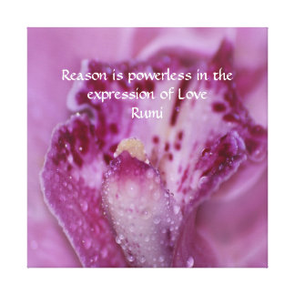 Rumi Love Expression Canvas Print