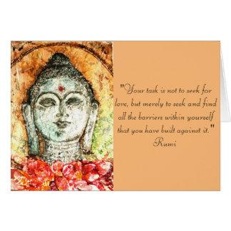 Rumi Love Quote Buddha Art Greeting Card
