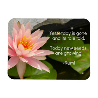 Rumi Magnet with Pink Lotus Flower
