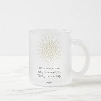 Rumi Morning Poetry Mug