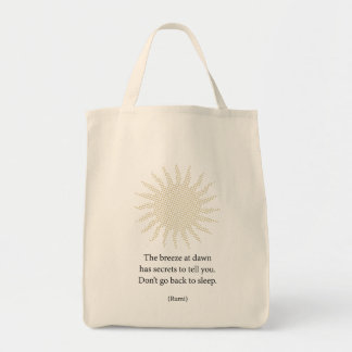 Rumi Morning Poetry Tote Bag