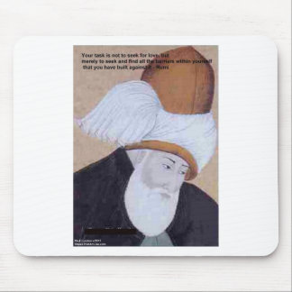 "Rumi ""Obstacles Of Love"" Quote On Gifts Tees Cards Mouse Pad"