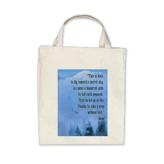 Rumi on Love Bags