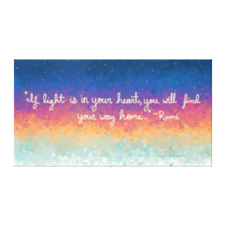 Rumi Quote Abstract Canvas Print