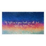 Rumi Quote Abstract Poster