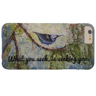 Rumi Quote Bird Watercolor Art  iPhone Case