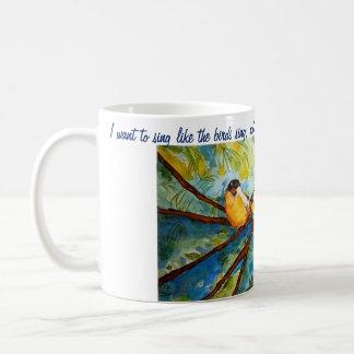 Rumi Quote Birds Watercolor Art Coffee Mug