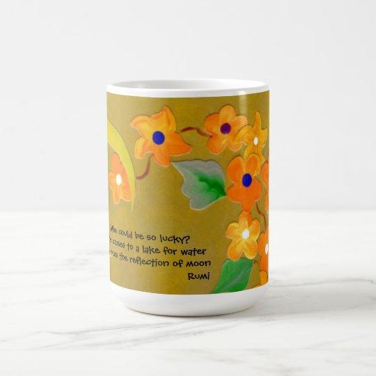 rumi quote on luck coffee mug
