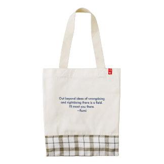 Rumi Quote Zazzle HEART Tote Bag