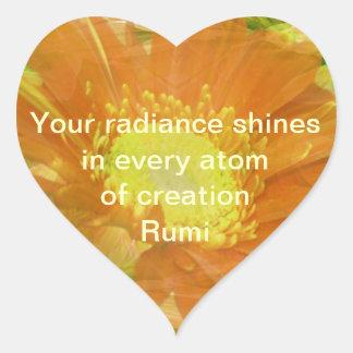 Rumi Radiance Heart Sticker