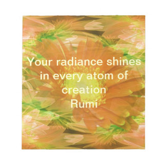 Rumi Radiance Notepad