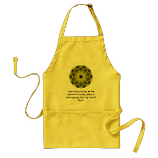 Rumi Taking Action Inspirational Quotation Saying Adult Apron