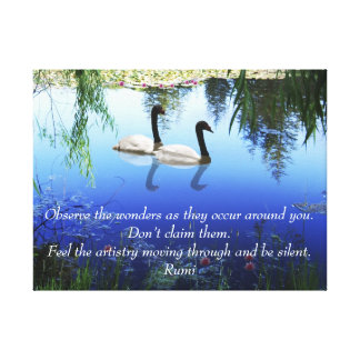 Rumi The wonders Canvas Print