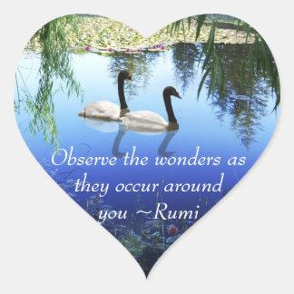 Rumi The wonders Heart Sticker