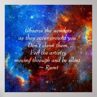 Rumi The wonders Poster