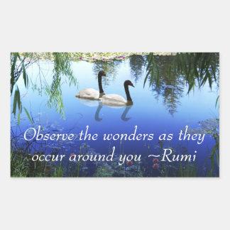 Rumi The wonders Rectangular Sticker