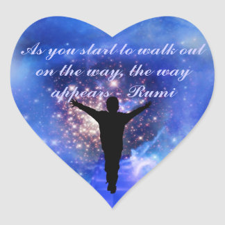 Rumi  Trust the way Heart Sticker