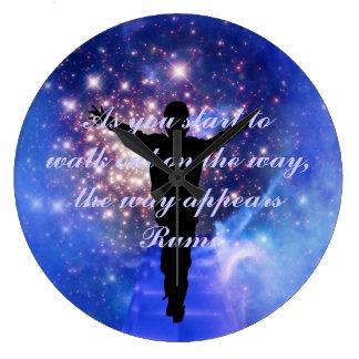 Rumi  Trust the way Large Clock