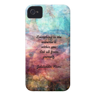 Rumi Uplifting Quote About Energy And Universe Case-Mate iPhone 4 Case