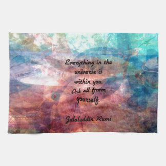 Rumi Uplifting Quote About Energy And Universe Hand Towel