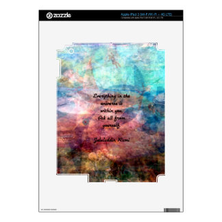 Rumi Uplifting Quote About Energy And Universe iPad 3 Decal