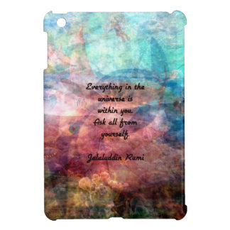 Rumi Uplifting Quote About Energy And Universe iPad Mini Case