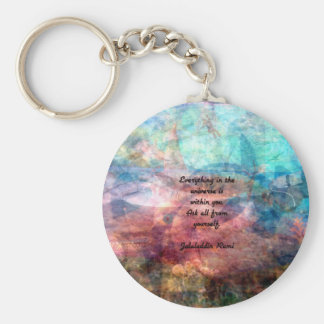 Rumi Uplifting Quote About Energy And Universe Keychain