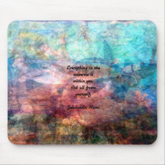 Rumi Uplifting Quote About Energy And Universe Mouse Pad