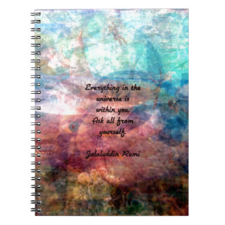 Rumi Uplifting Quote About Energy And Universe Notebook