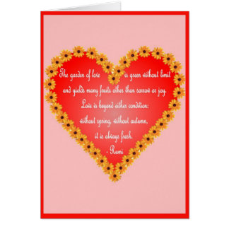 Rumi Valentine's Day card