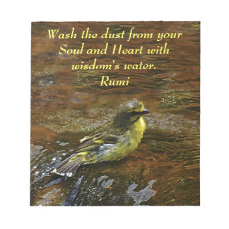 Rumi Wash the dust from my soul Notepad